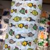 厂家直销 婴幼儿童防护口罩  水刺布 小鱼图案印花